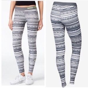 Women's NiKe Pro Warm 8 bit athletic leggings